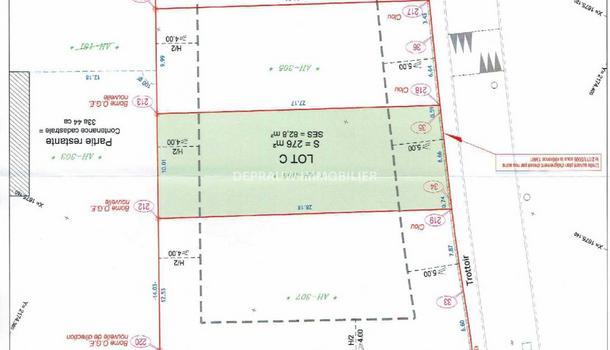 Estagel Terrain 276 m²