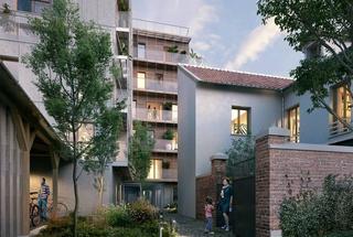 L'INSOLITE,                                                                                       Appartement neuf                                                                                      Paris 20eme&nbsp-