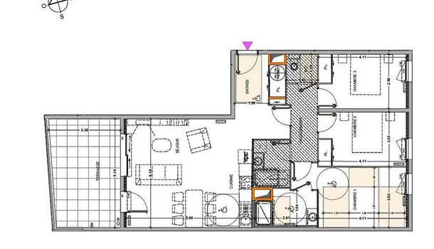 Marseille 9eme Appartement 4 pièces 87 m²