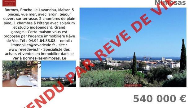 Bormes-les-Mimosas Maison 5 pièces 110 m²