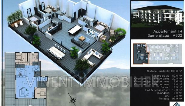 Montélimar Appartement 5 pièces 140 m²